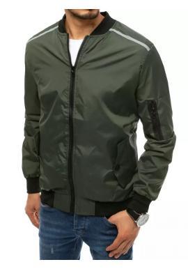 Zelená prechodná bunda s reflexnými doplnkami pre pánov