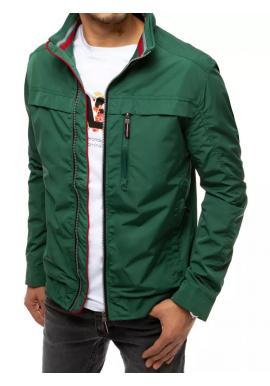 Pánska prechodná bunda bez kapucne v zelenej farbe