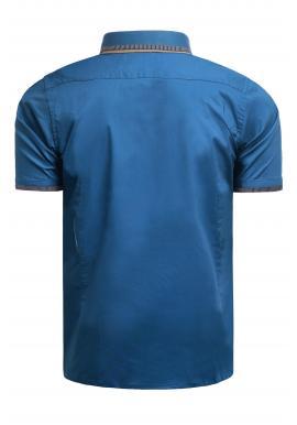 Morská elegantná košeľa s krátkym rukávom pre pánov