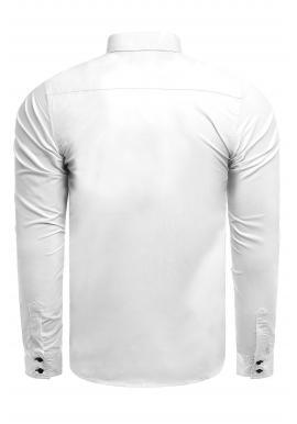 Elegantná pánska košeľa bielej farby s dlhým rukávom