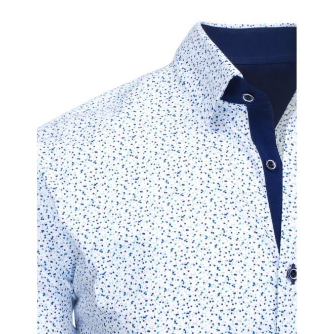Pánska vzorovaná košeľa modrej farby