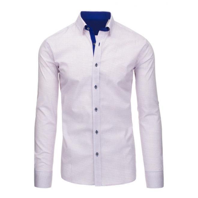 Čierno-modrá pánska košeľa so vzorom
