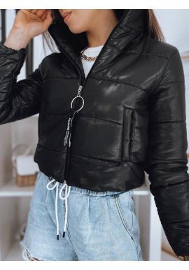 Dámska krátka prešívaná bunda v čiernej farbe