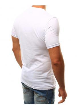 Pánske športové tričko s nápisom v tmavomodrej farbe