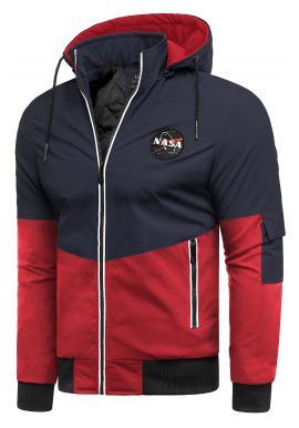 Tmavomodrá prechodná bunda s odopínacou kapucňou pre pánov