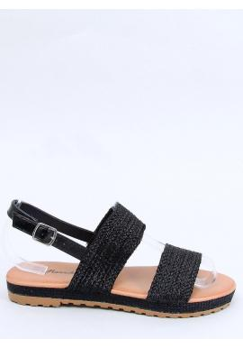 Štýlové dámske sandále čiernej farby