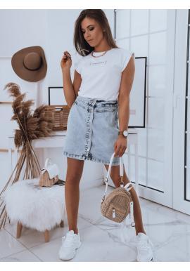 Bavlnené dámske tričko bielej farby s minimalistickým nápisom