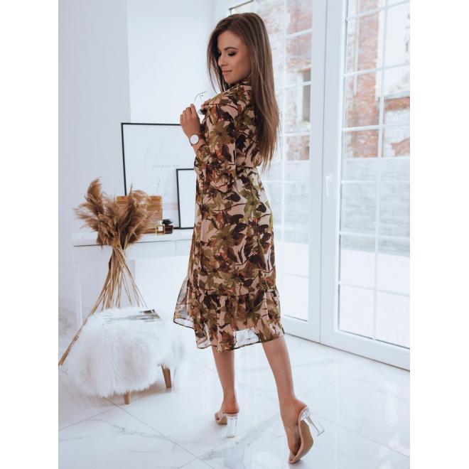 Farebné dlhé šaty so vzorom pre dámy