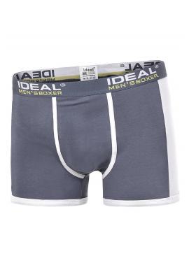 Tmavomodré bavlnené boxerky s kontrastnými vložkami pre pánov