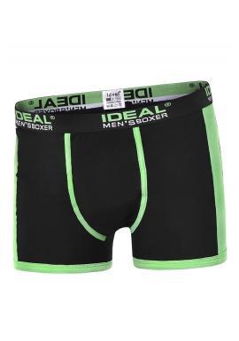Bavlnené pánske boxerky čiernej farby s kontrastnými vložkami