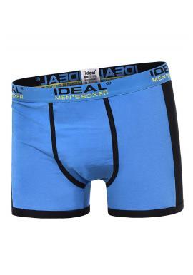 Svetlomodré bavlnené boxerky s kontrastnými vložkami pre pánov