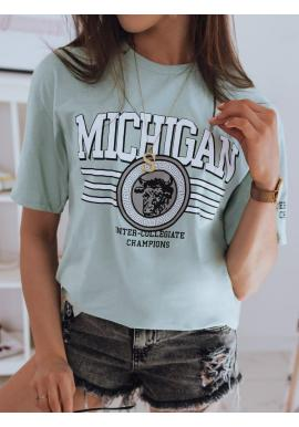 Mätové bavlnené tričko s potlačou pre dámy