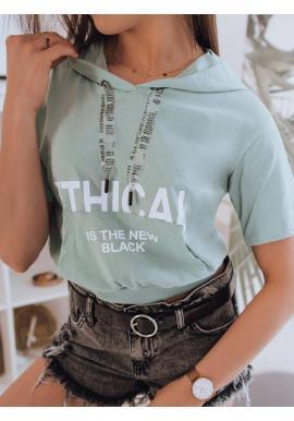Mätové módne tričko s kapucňou pre dámy