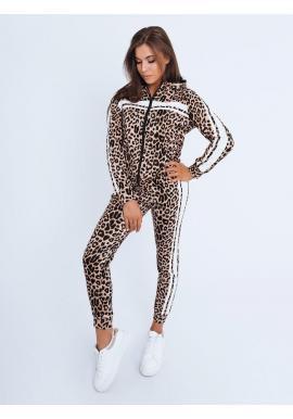 Dámsky leopardí komplet s bielymi pruhmi