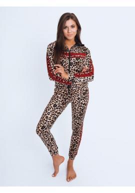 Dámsky leopardí komplet s červenými pruhmi