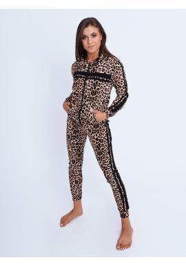Leopardí dámsky komplet s čiernymi pruhmi
