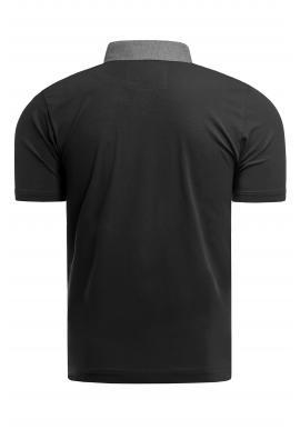 Bavlnená pánska polokošeľa čiernej farby