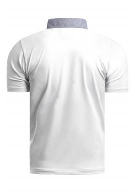 Bavlnené pánske polokošele bielej farby