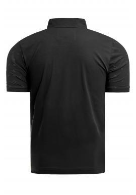 Pánska vzorovaná polokošeľa v čiernej farbe