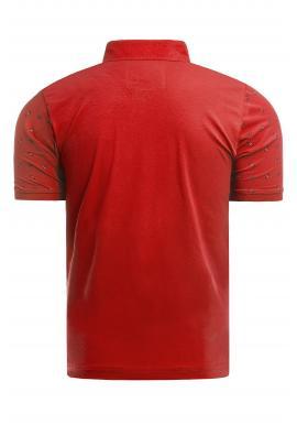 Pánska vzorovaná polokošeľa v červenej farbe