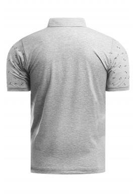 Vzorovaná pánska polokošeľa sivej farby