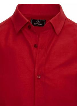 Hladká pánska košeľa bordovej farby s dlhým rukávom