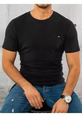Pánske bavlnené tričko s krátkym rukávom v čiernej farbe