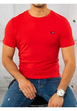 Bavlnené pánske tričko červenej farby s krátkym rukávom
