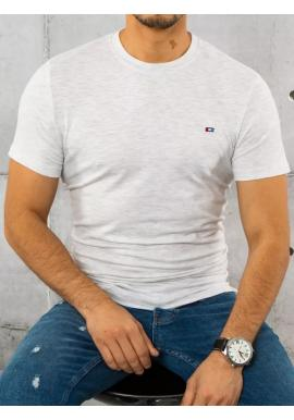 Sivé bavlnené tričko s krátkym rukávom pre pánov