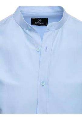 Pánska módna košeľa so stojačikom v svetlomodrej farbe