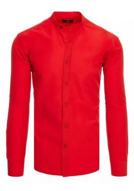 Pánska módna košeľa so stojačikom v červenej farbe