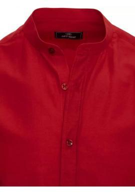 Bordová módna košeľa so stojačikom pre pánov