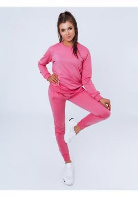 Tepláková dámska súprava ružovej farby bez kapucne
