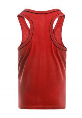 Pánske klasické tričká bez rukávov v červenej farbe