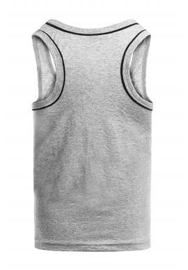 Sivé klasické tričko bez rukávov pre pánov