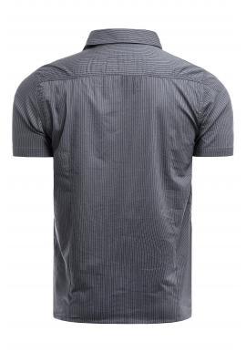 Pánska pásikavá košeľa s vreckami na hrudi v modrej farbe