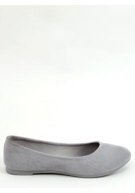 Klasické dámske balerínky sivej farby s okrúhlou špičkou