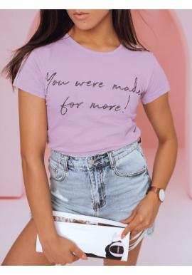 Fialové klasické tričko s nápisom pre dámy