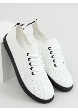 Biele dierkované tenisky s čiernymi prvkami pre dámy
