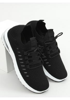 Dámske ponožkové tenisky v čiernej farbe