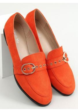 Oranžové semišové mokasíny s prackou pre dámy