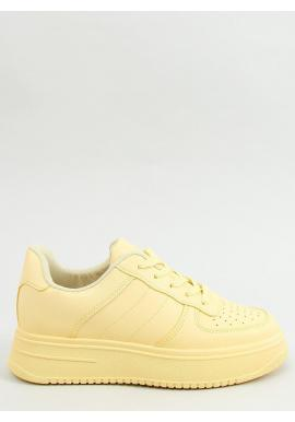 Dámske športové tenisky s vysokou podrážkou v žltej farbe