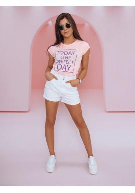Dámske klasické tričká s potlačou v ružovej farbe