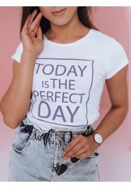 Biele klasické tričko s potlačou pre dámy