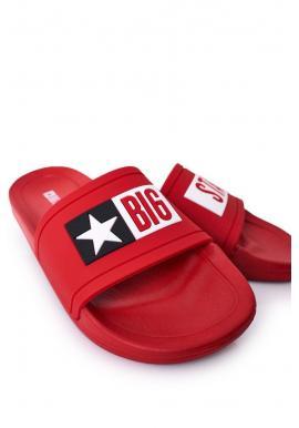 Pánske gumené šľapky Big Star v červenej farbe