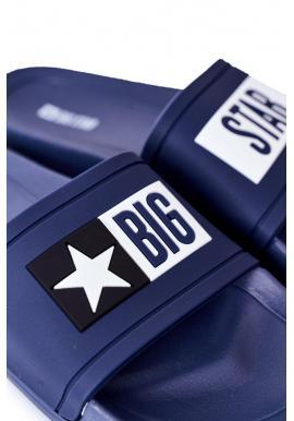 Tmavomodré gumené šľapky Big Star pre pánov