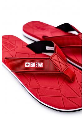 Penové pánske žabky Big Star červenej farby
