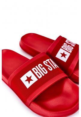 Pánske ľahké šľapky Big Star v červenej farbe
