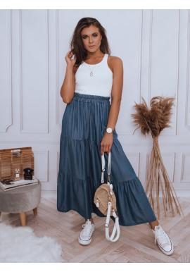 Dámska maxi sukňa s gumičkou v páse v tmavomodrej farbe