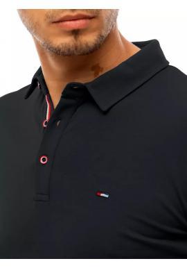 Pánske klasické polokošele s tromi gombíkmi v čiernej farbe